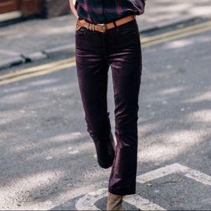 Paige Colette Crop Flare pants burgundy 28